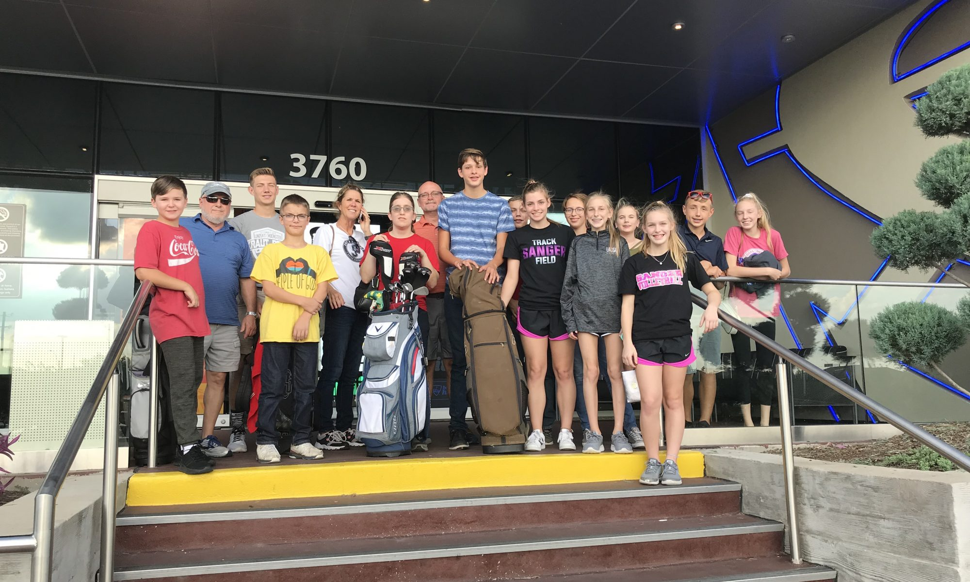 Youth group at top golf